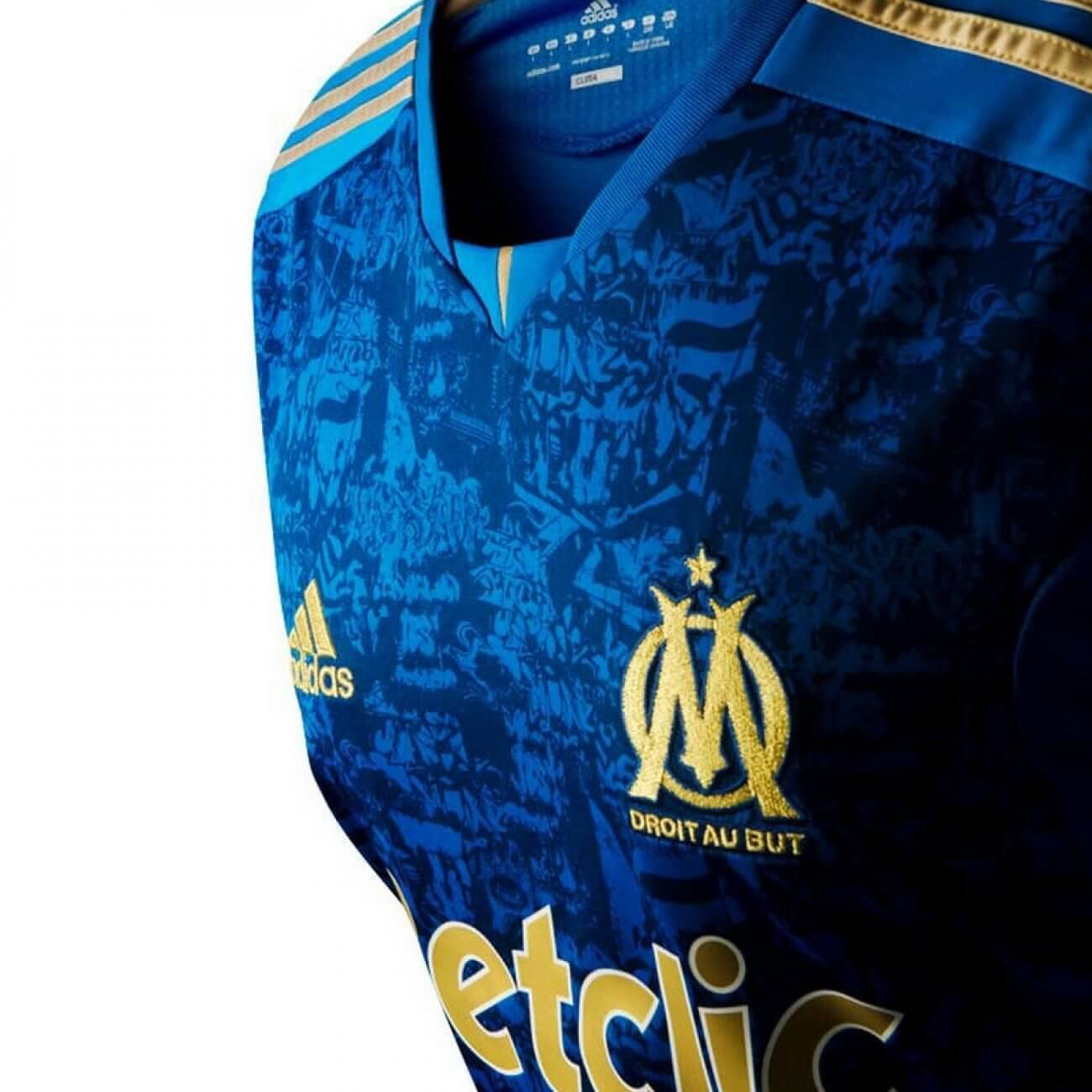 risparmia fino al 60% nuove varietà metà prezzo Seconda Maglia Olympique Marseille 2011-2012