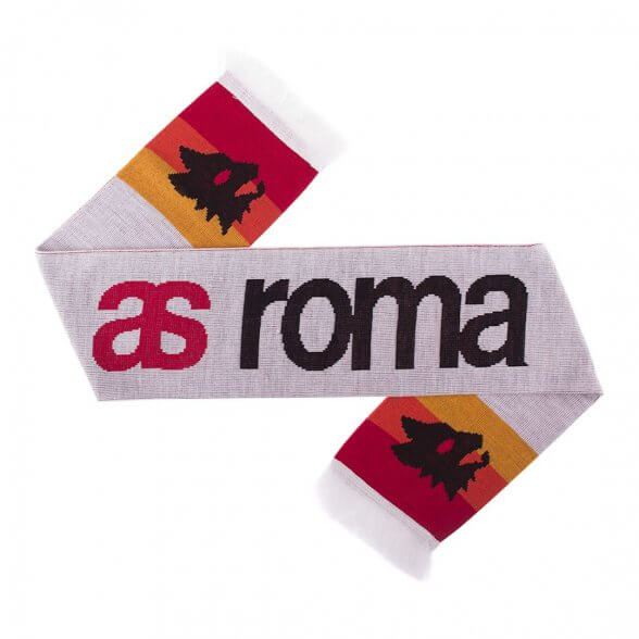 AS Roma Sciarpa Retro Bianca