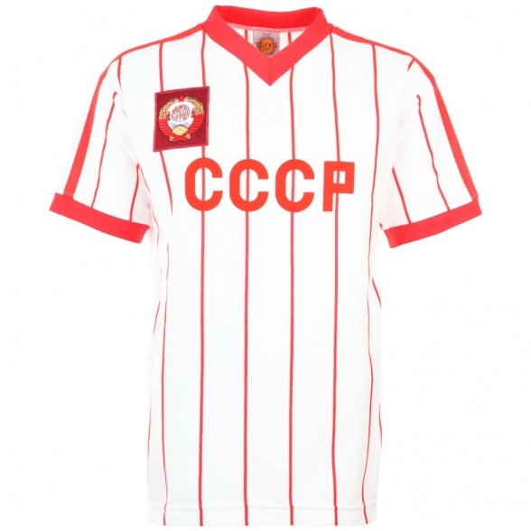 Maglia storica URSS, bianca con righine rosse