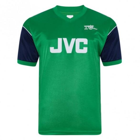 Maglia storica Arsenal 1982 Ospiti Verde