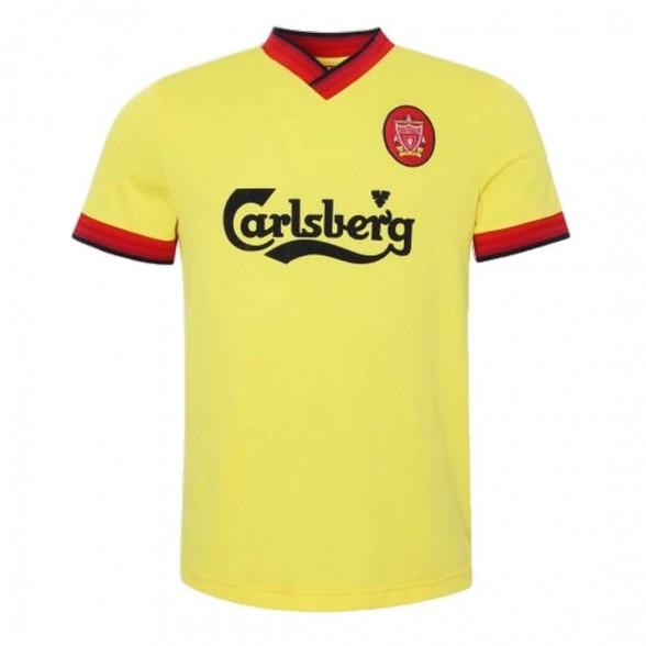 Maglia storica Liverpool FC 1997-98 Gialla Ospiti