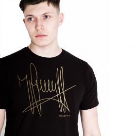 T-shirt Cruyff azienda | Nero / Oro