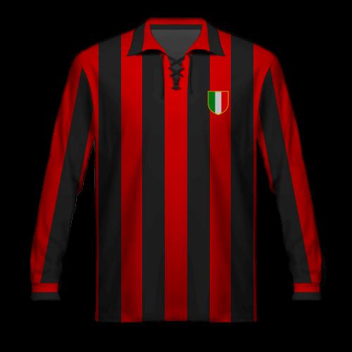 Camiseta Milan 1957-58