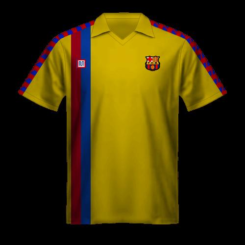 Maglia gialla FC Barcelona 1981/82 ospiti