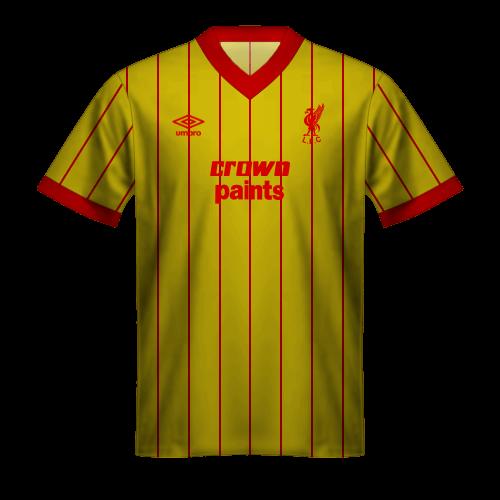 Maglia Liverpool 1985/86 Ospiti