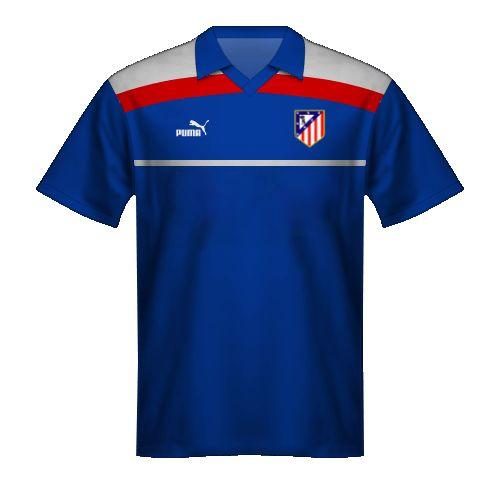 Maglia blu Atletico Madrid 1986