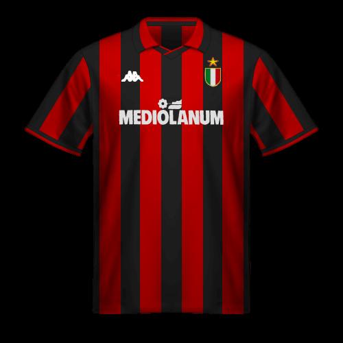 Camiseta Milan 1988/89