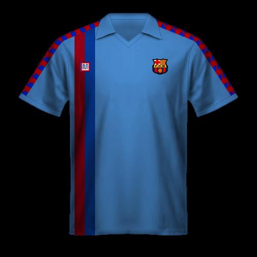 Camiseta FC Barcelona 1988/89 visitante azul claro