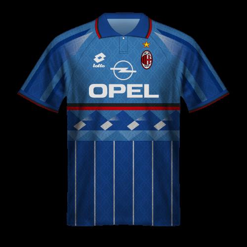 Camiseta Milan 1995/96