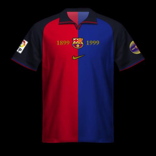 Camiseta FC Barcelona 1999/00 Nike: centenario FCB