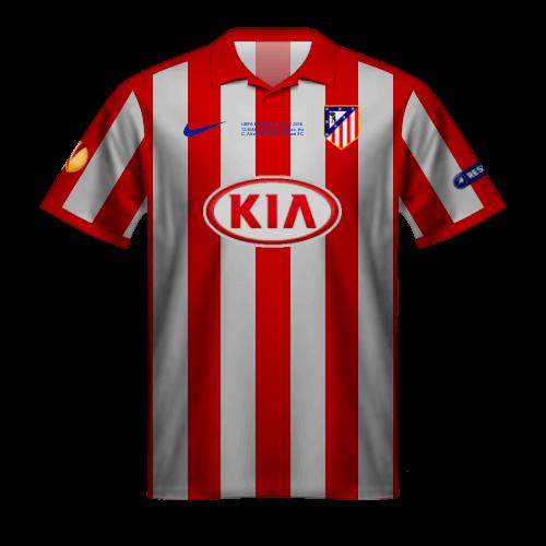 Camiseta Atletico Madrid 2010 Europa League