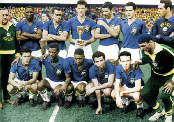 Brasile Campione del Mondo 1958 Mondiale Svezia