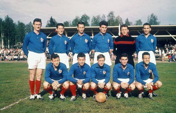 Maglia Francia 1958 vintage