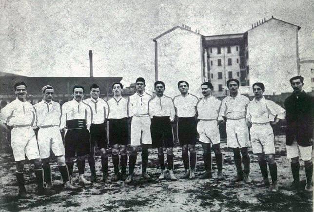 Nazionale italiana Italia Francia 1910