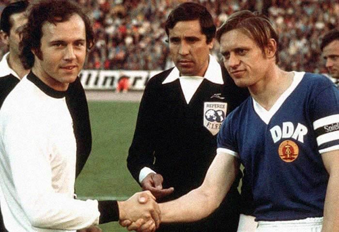 Bernd Bransch e Beckenbauer 1974