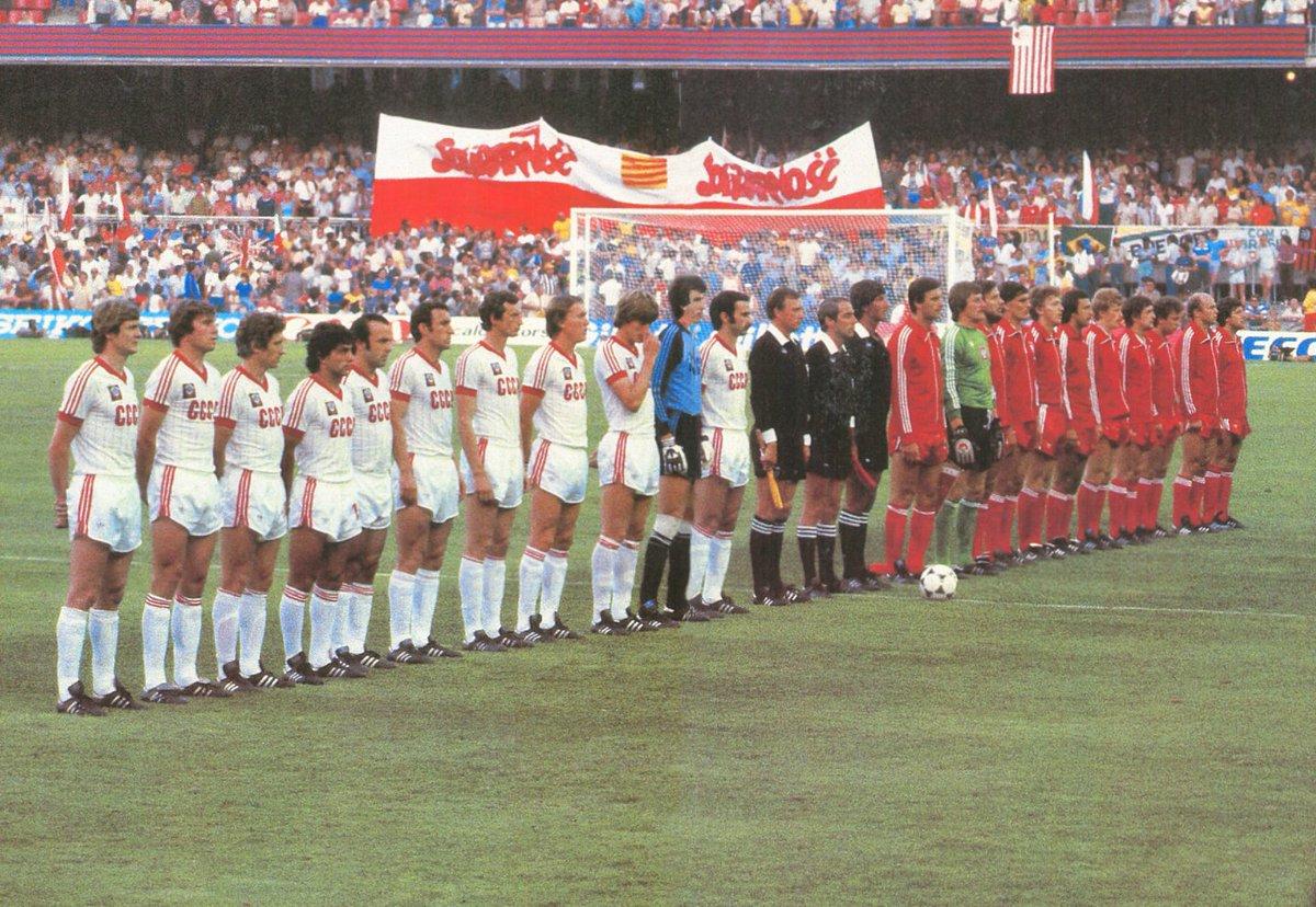 Maglia CCCP 1982 ospiti contro la Polonia a Spagna 82