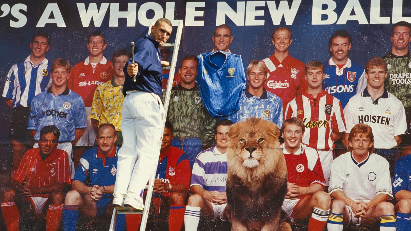 Vinnie Jones per un annuncio della Premier League 1992-93