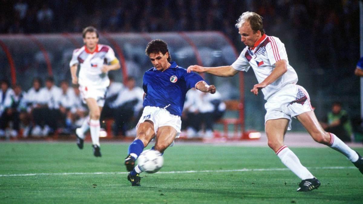 Roberto Baggio Italia Cecoslovacchia 1990