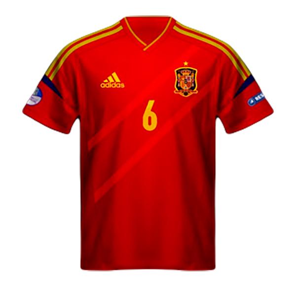Maglia Spagna Europeo 2012
