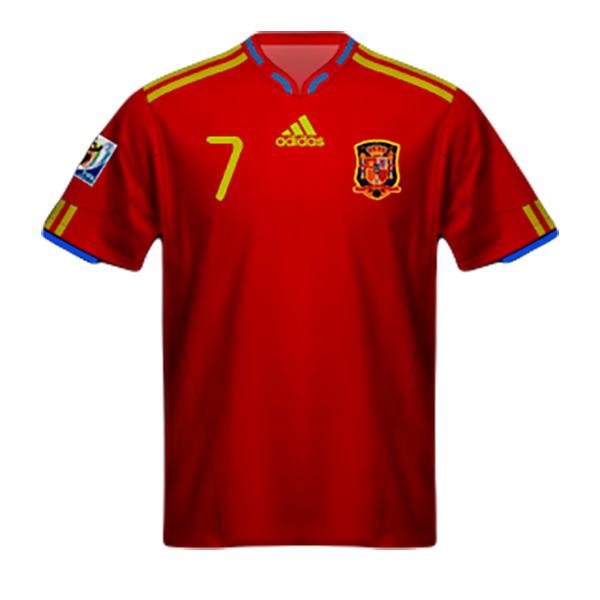 Maglia Spagna Mondiali Sudafrica 2010