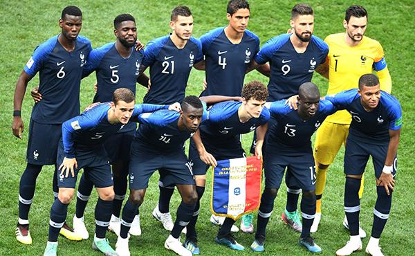 Storia della maglia della Francia