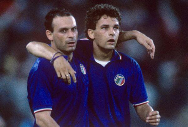 Baggio e Schillaci a Italia 90