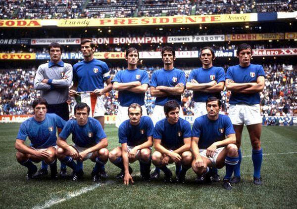 La Nazionale italiana degli anni 70