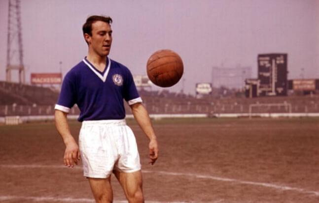 Jimmy Greaves con la maglia del Chelsea anni 60, 1960