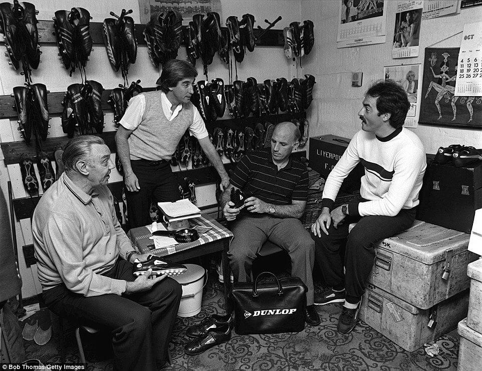 La famosa Boot Room del Liverpool istituita da Bill Shankly