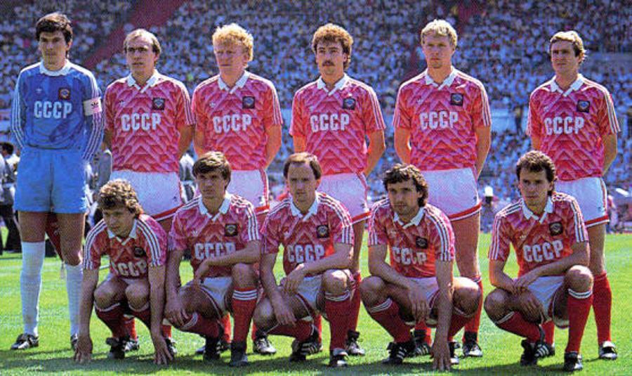 Maglia delll'URSS nella Finale degli Europei 1988 vinti dall'Olanda