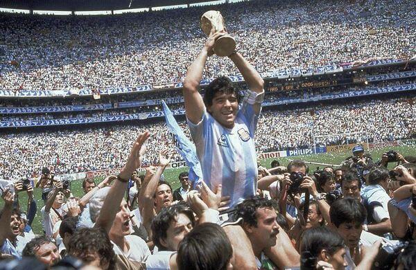 Diego Maradona, campiona del mondo a Messico '86