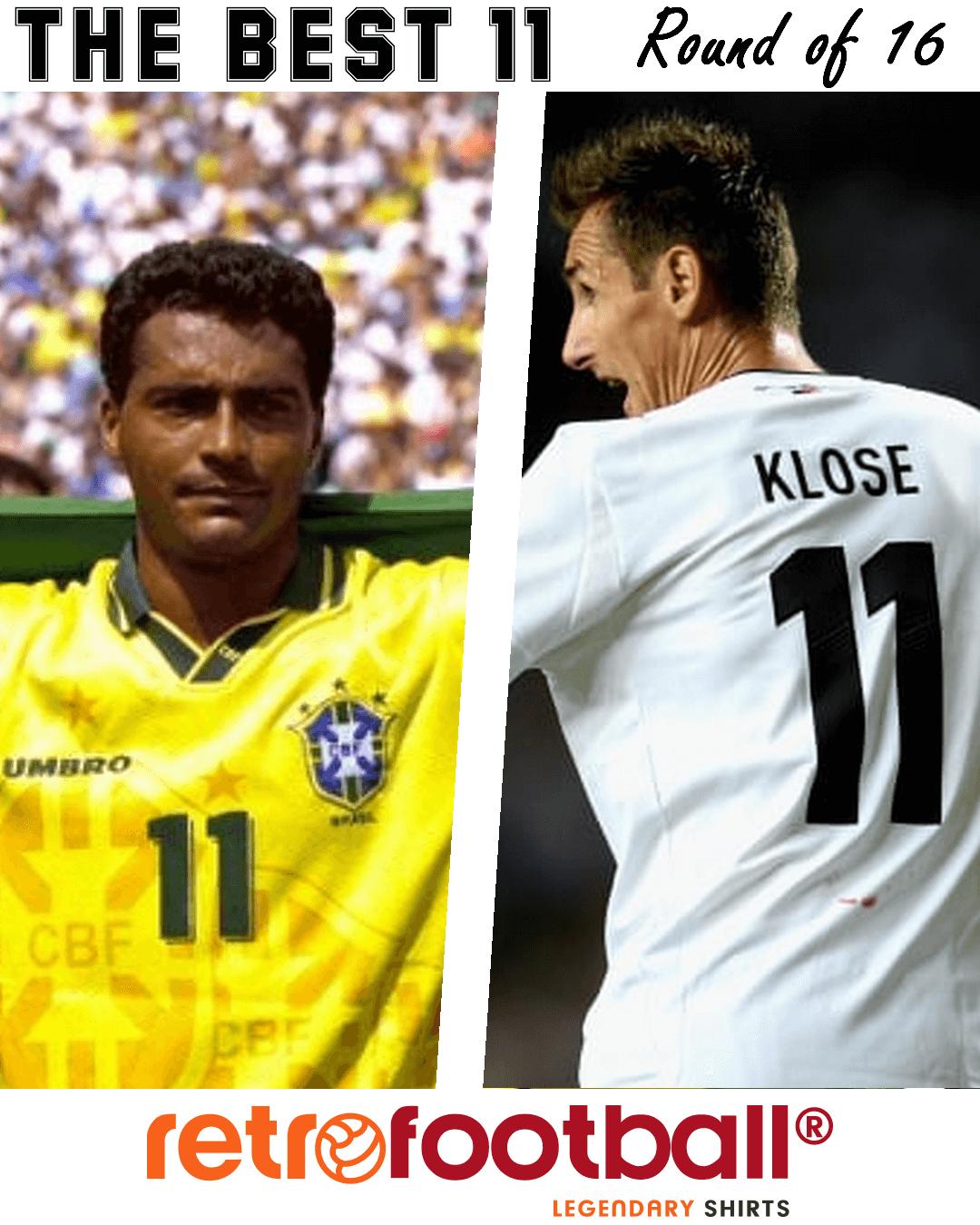 Mejor numero 11 - Romario-Klose