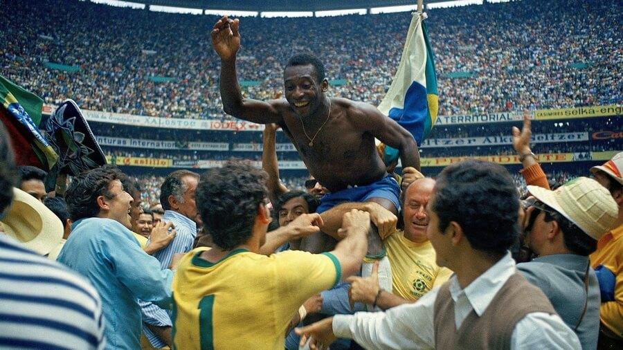 Pele Brasile Campione del Mondo 1970 Messico 70