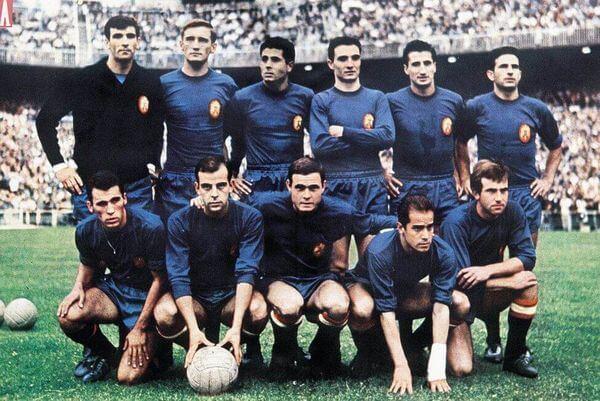Spagna Europei 1964 maglia blu