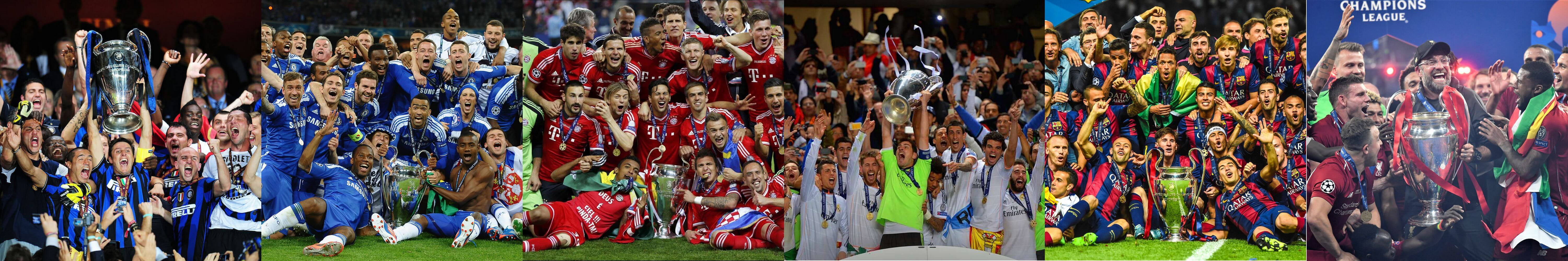 Champions League winners 2010s